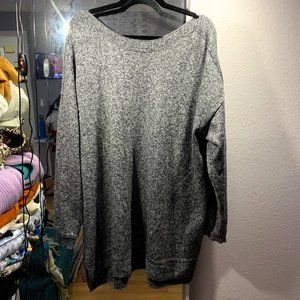 Gray Loose Cut Soft Sweater